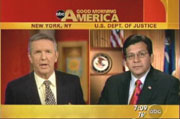 ABC's Charles Gibson & Attorney General Alberto Gonzales