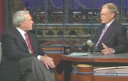 Dan Rather on Late Show with David Letterman