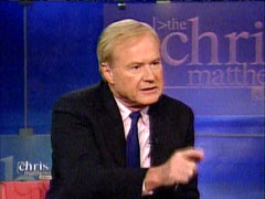 Chris Matthews from the Chris Matthews Show l NewsBusters.org
