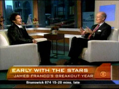 Harry Smith and James Franco, CBS