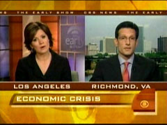 Maggie Rodriguez and Eric Cantor, CBS