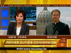 Maggie Rodriguez and Father Thomas Williams, CBS