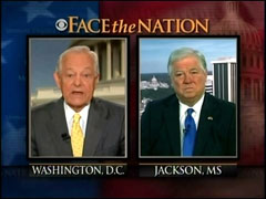 Bob Schieffer and Haley Barbour, CBS