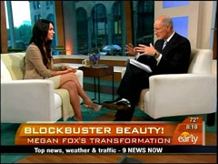 Harry Smith and Megan Fox, CBS