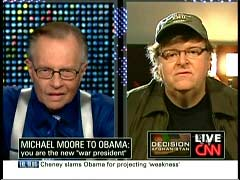 Larry King, CNN Host; & Michael Moore, Director | NewsBusters.org