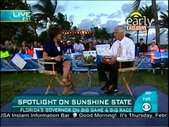 Maggie Rodriguez and Charlie Crist, CBS