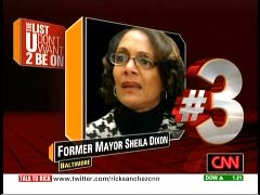 Sheila Dixon, former Baltimore mayor, Democrat; CNN Graphic from 5 February 2010 Rick's List program | NewsBusters.org