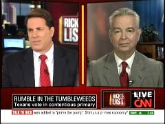 Rick Sanchez, CNN Anchor; & Wayne Slater, Dallas Morning News Senior Political Writer | NewsBusters.org