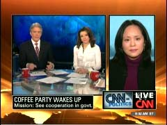 John Roberts, CNN Anchor; Kiran Chetry, CNN Anchor; & Annabel Park, Coffee Party USA Founder | NewsBusters.org