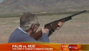 Reid Goes Shooting While Palin In Town, But GMA Calls Him 'Man In