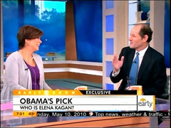 Maggie Rodriguez and Eliot Spitzer, CBS
