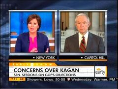 Maggie Rodriguez and Jeff Sessions, CBS