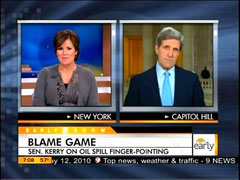 Maggie Rodriguez and John Kerry, CBS