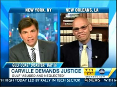 George Stephanopoulos and James Carville, ABC