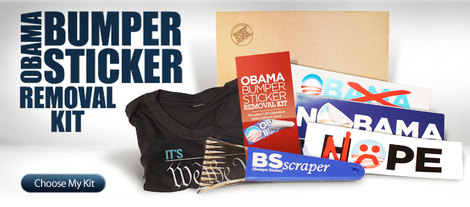 Introducing the obama bumper sticker removal kit