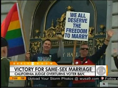 Gay Marriage Protestors, CBS