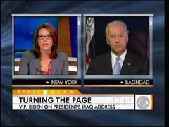 Erica Hill and Joe Biden, CBS