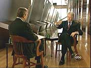 Peter Jennings with Bill Clinton