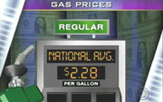 CBS on-screen graphic: Gas Prices