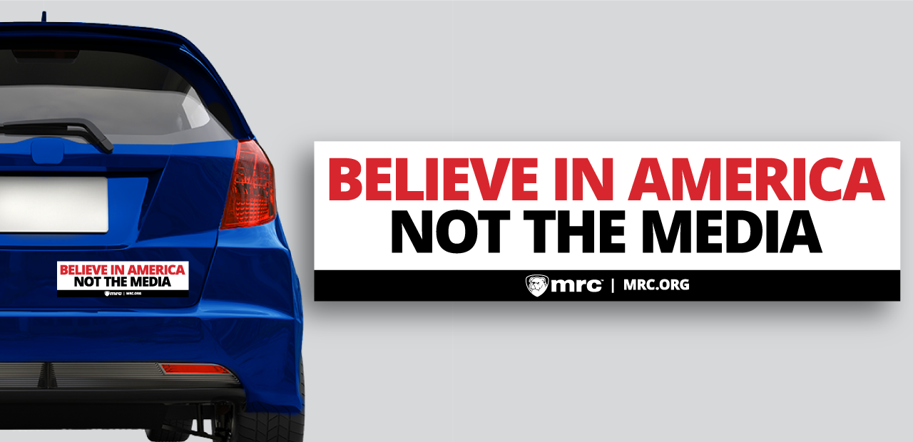 Believe in America Not the Media | Bumper Sticker